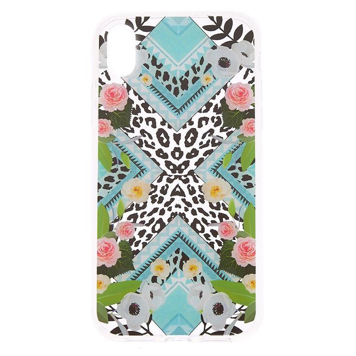 Floral Leopard Print Phone Case - Fits iPhone XR,