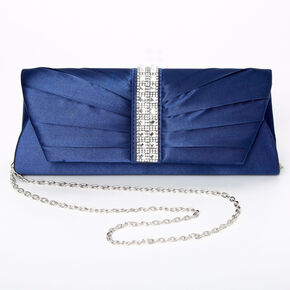 Embellished Clutch Bag - Navy,