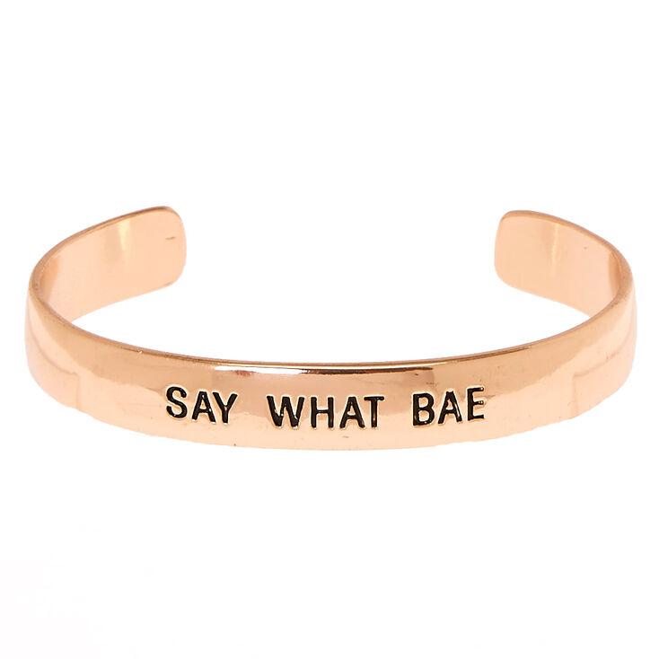 Rose Gold Bae Cuff Bracelet,