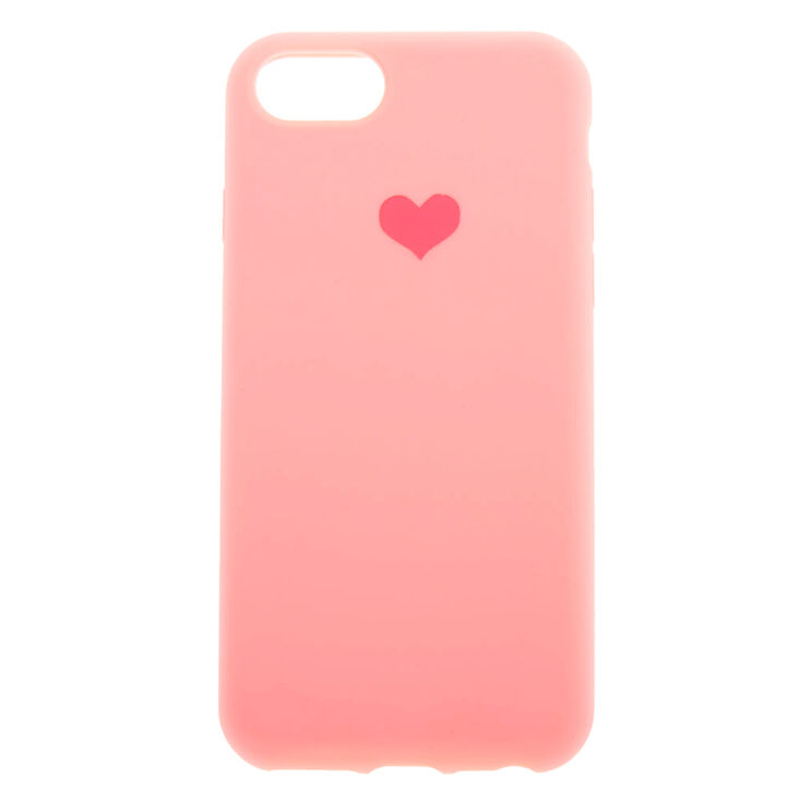 Pink Heart Phone Case - Fits iPhone 6/7/8,