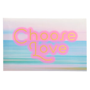Choose Love Pastel Wall Canvas,