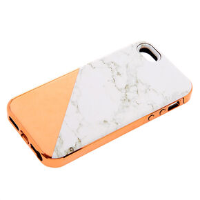 Rose Gold Marble Protective Phone Case - Fits iPhone 5/5S/SE,