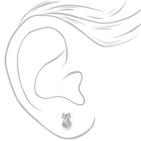 Sterling Silver Tropical Beach Stud Earrings - 3 Pack,