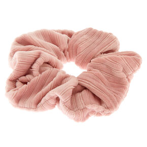 Ribbed Velvet Hair Scrunchie - Pink,