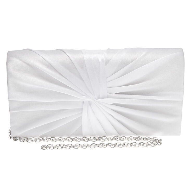 Twisted Bridal Clutch Bag - White,