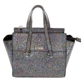 Metallic Satchel Crossbody Bag,