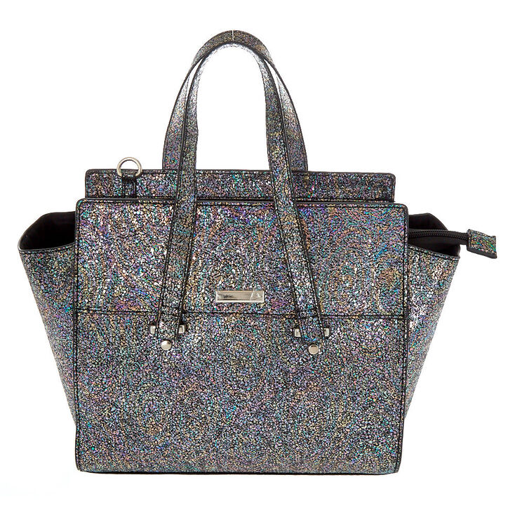Metallic Satchel Crossbody Bag,