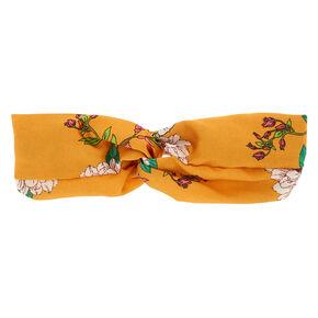 Floral Turban Headwrap - Mustard,
