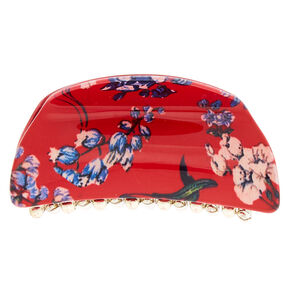 Cherry Blossom Hair Claw - Red,