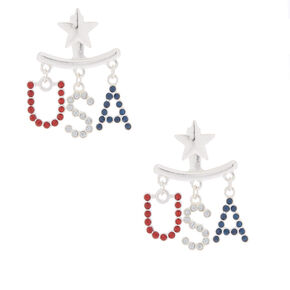 USA Ear Jacket Earrings,