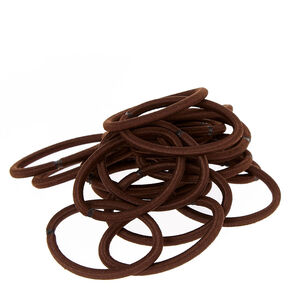Snag-free No Metal Brown Hair Ties,