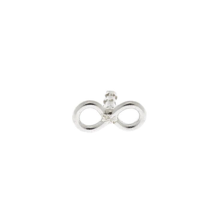 Silver 16G Infinity Helix Earring,
