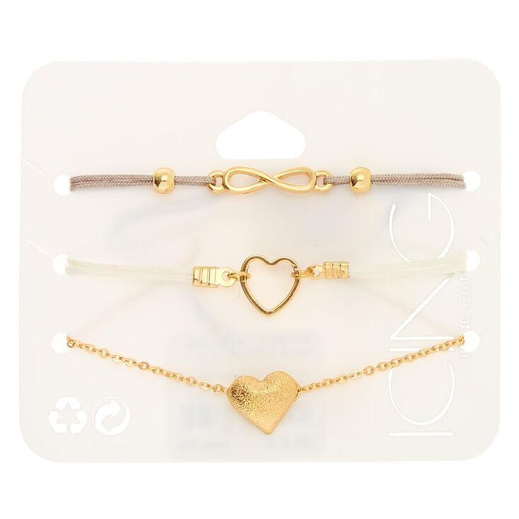 Gold Symbol Bracelets - 3 Pack,