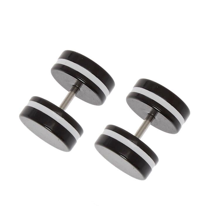 Faux Oreo Plug Earrings,