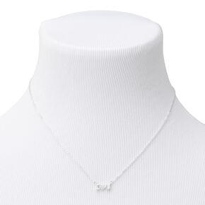 Silver I Heart U Cubic Zirconia Pendant Necklace,