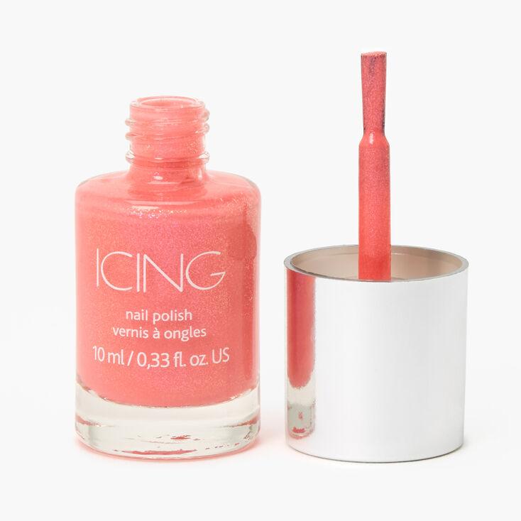 Shimmer Nail Polish - Coral,