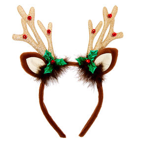Reindeer Antlers Headband - Brown,