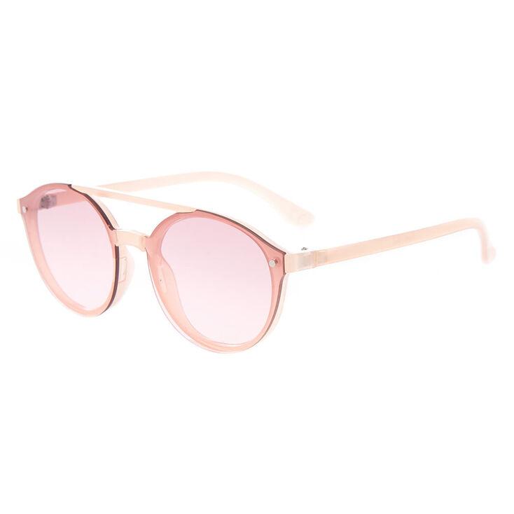 Round Aviator Sunglasses - Pink,