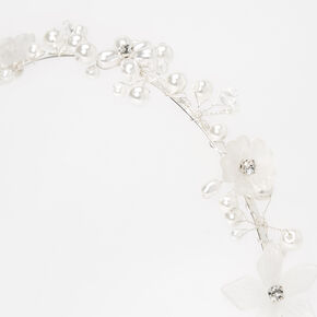 Pearl and Rhinestone Flower Headband,