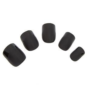Shiny Faux Nail Set - Black, 24 Pack,