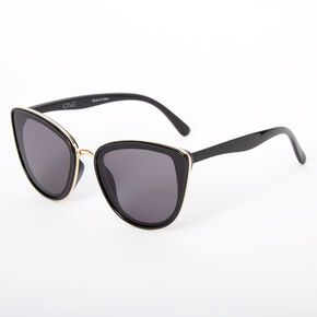 Chic Mod Cat Eye Sunglasses - Black,