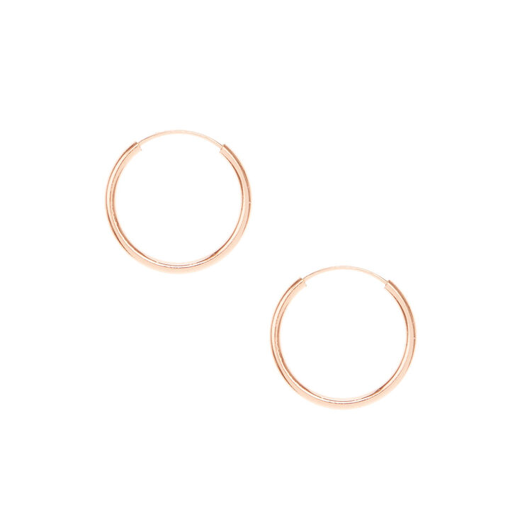 Gold Plated Rose Gold Hoop Earrings,