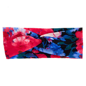 Tropical Wide Jersey Headwrap - Black,