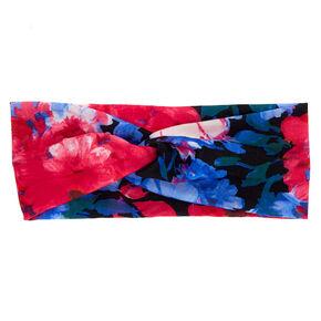 Tropical Wide Jersey Headwrap - Black,