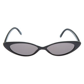 Slim Cat Eye Sunglasses - Black,