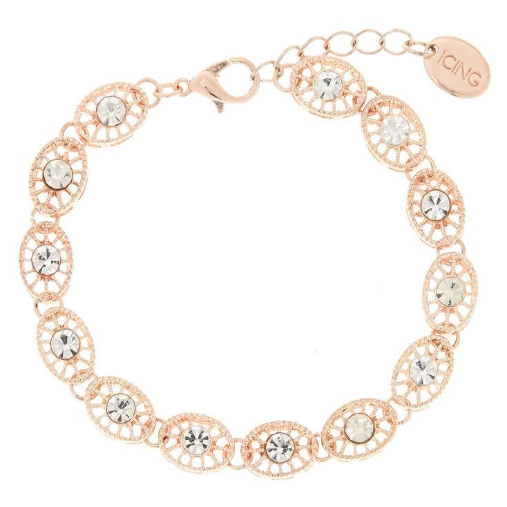 Rose Gold Filigree Bracelet,