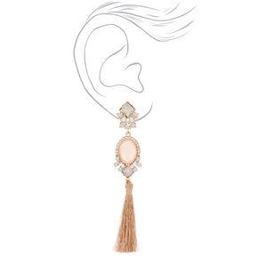 """Rose Gold 4"""" Vintage Tassel Drop Earrings,"""