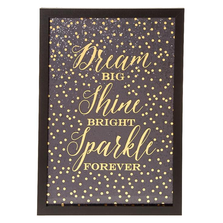 Sparkling Motivational Wall Art,