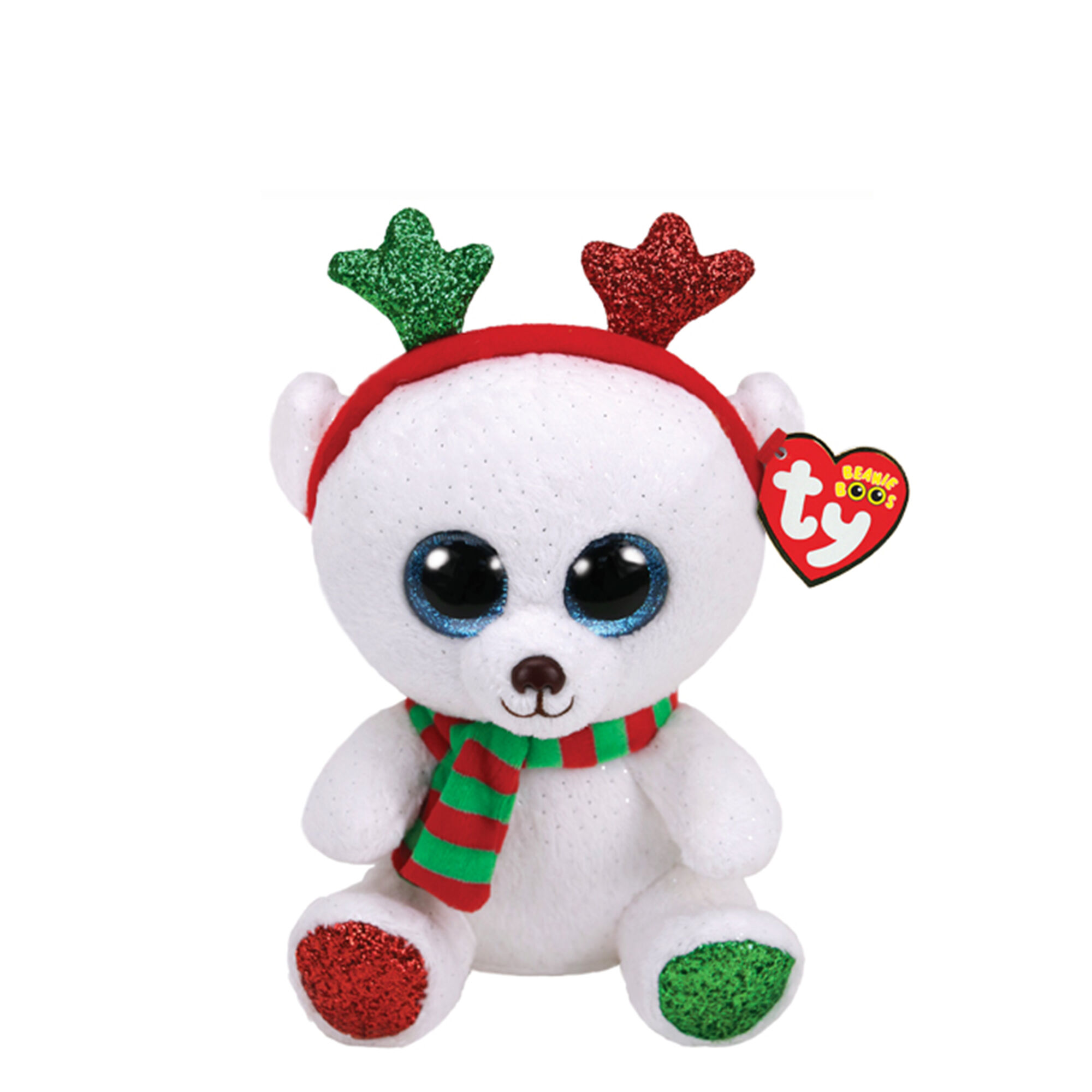 296f442e7a5 Ty Beanie Boo Small Frost the Chrismtas Bear Plush Toy