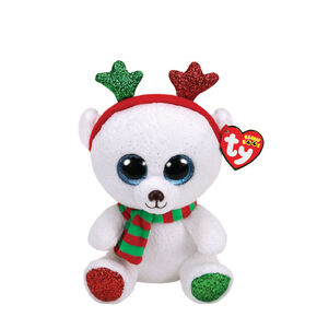 Ty Beanie Boo Small Frost the Chrismtas Bear Plush Toy,