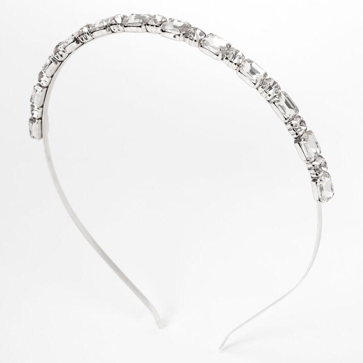 Silver Chunky Rhinesone Headband,