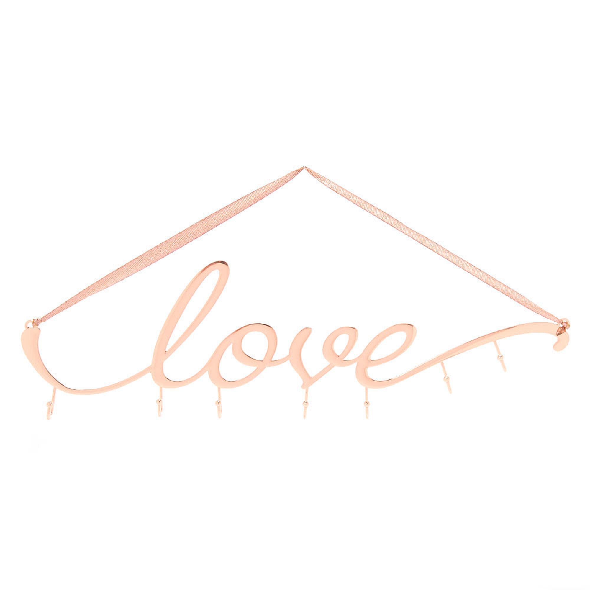 Love Wall Hook Rack Rose Gold Icing Us