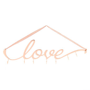 Love Wall Hook Rack - Rose Gold,