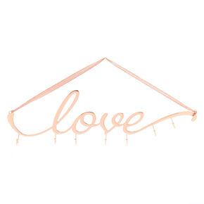 Love Wall Hook Rack - Rose Gold,