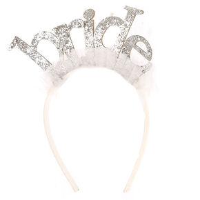 Bride Bachelorette Tulle Headband,
