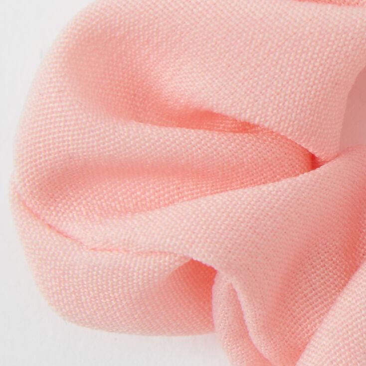 Small Bridesmaid Hair Scrunchie Scarf - Pink,