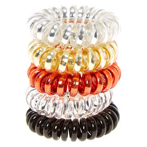 Metallic Neutral Mini Coiled Hair Ties,