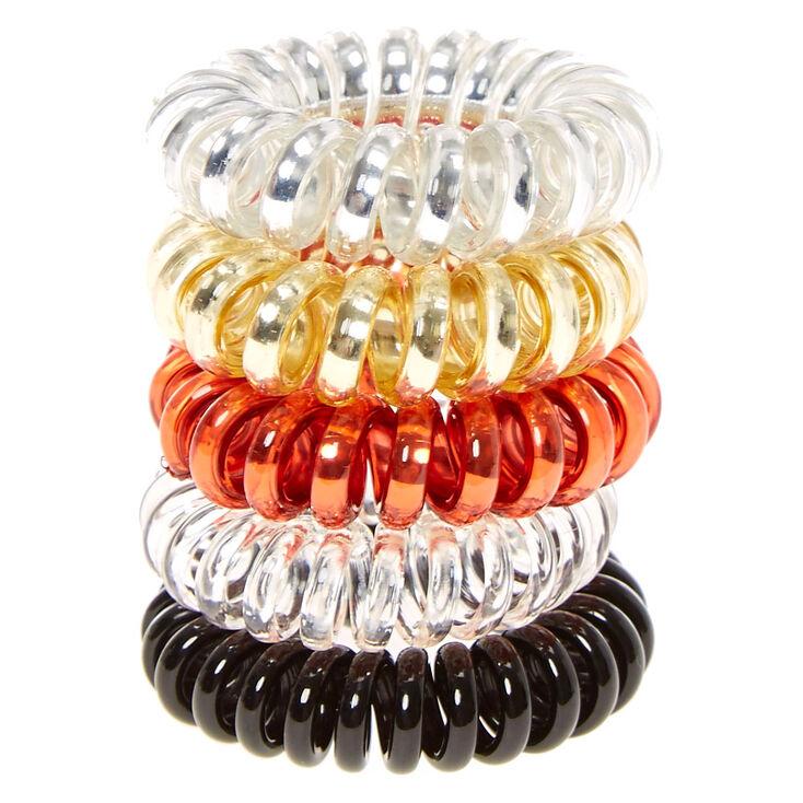Metallic Neutral Mini Coiled Hair Ties,