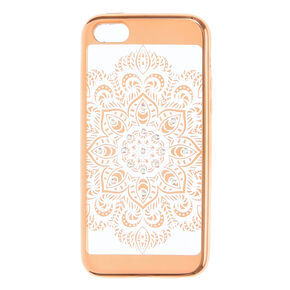 Gold Crystal Mandala Phone Case - Fits iPhone 6/7/8 Plus,