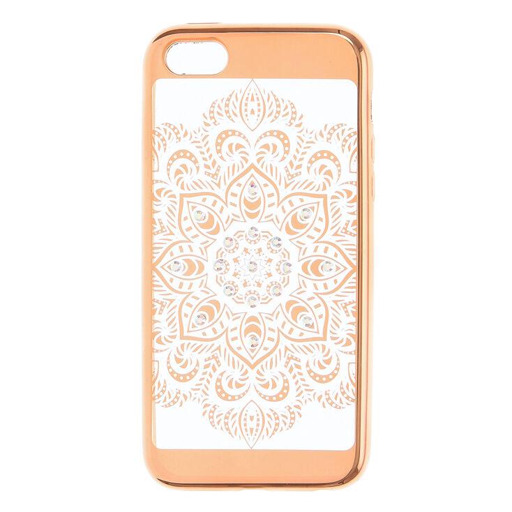 Gold Crystal Mandala Phone Case - Fits iPhone 6/7/8 Plus,