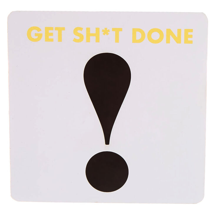 Get Sh*t Done! Word Block - White,