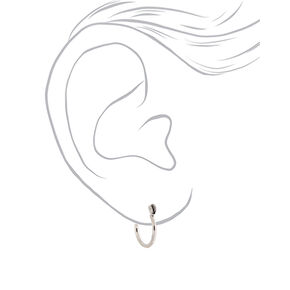 Mixed Metal 10MM Hinge Hoop Earrings - 3 Pack,