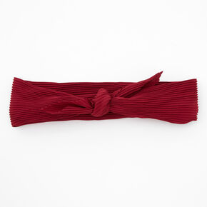 Pleated Bandana Headwrap - Burgundy,