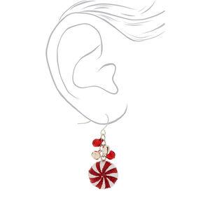 """1.5"""" Peppermint Bells Drop Earrings,"""