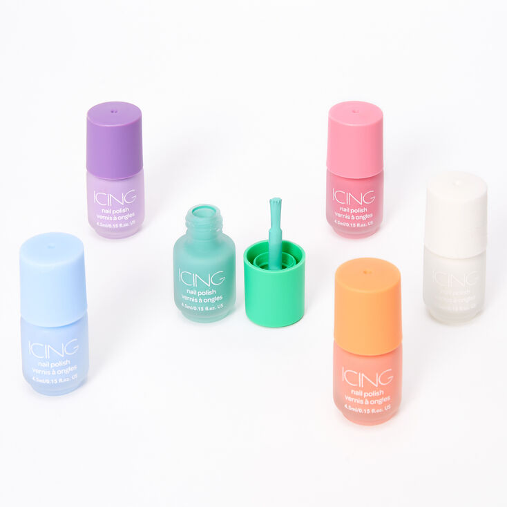 Mini Matte Pastel Nail Polish - 6 Pack,