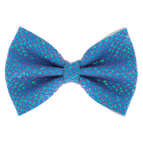 Mermaid Shine Hair Bow Clip - Baby Blue,